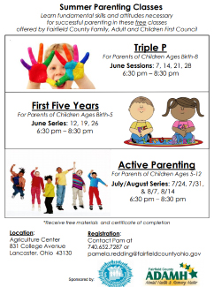 First Five Years - Spring 2017 Parenting Classes